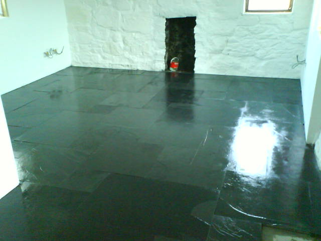 Natrual Slate Floor Laid