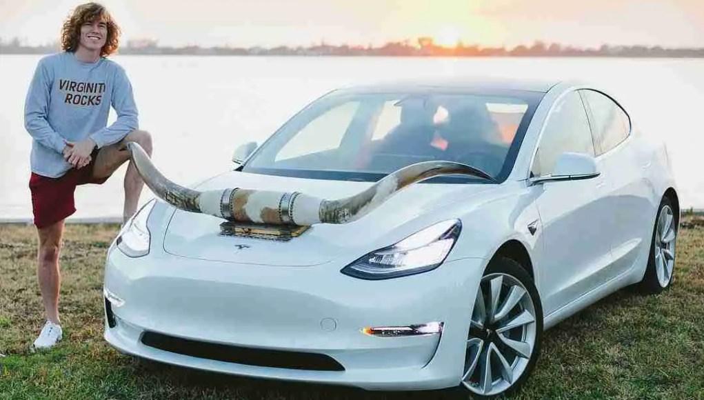 Tesla with Horns Luxury Danny Duncan Gets Himself A Tesla