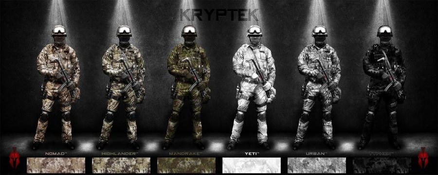 Patrones de camuflaje Kryptek