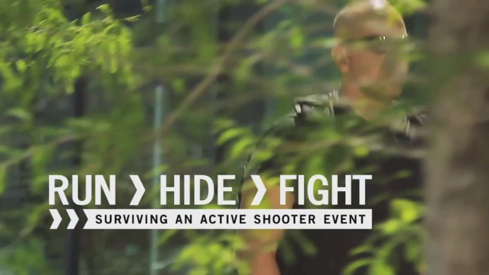 RUN. HIDE. FIGHT. Surviving an Active Shooter Event.