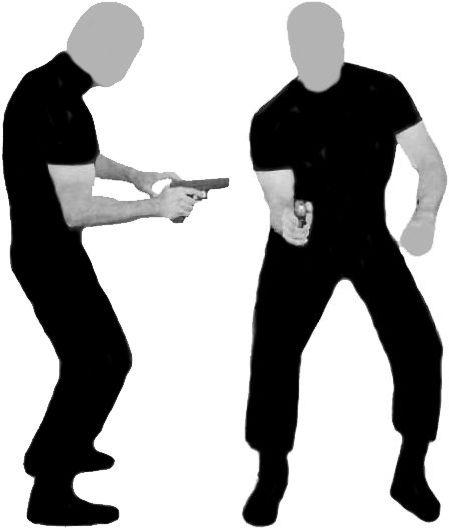 """Posición de tiro conocida por algunos como """"yaqui""""."""