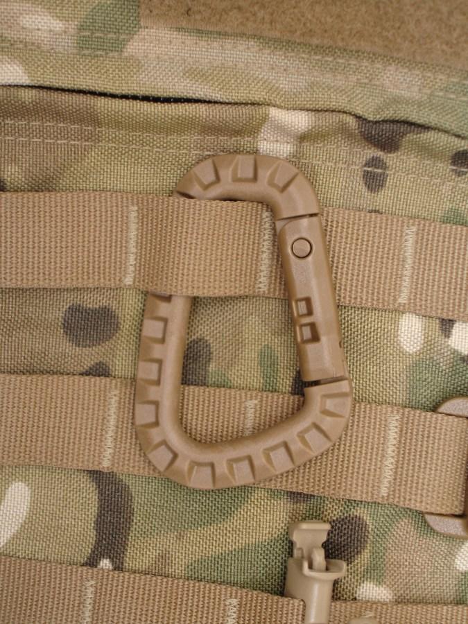 Tac Link unido a fila PALS de una mochila con el sistema MOLLE