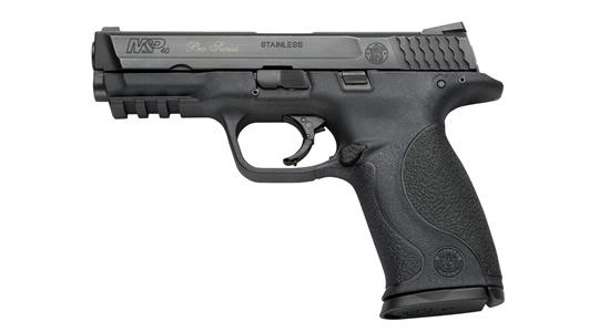 Pistola semiautomática S&W MP9.