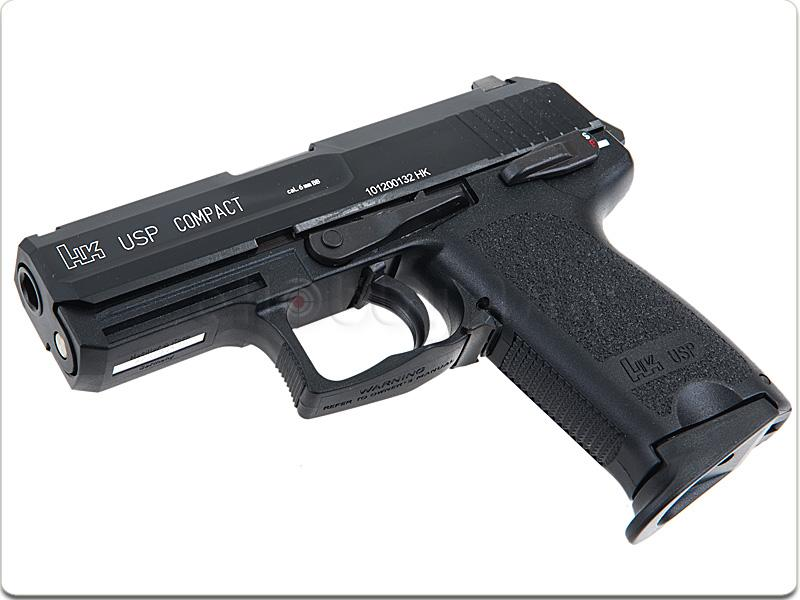 Pistola semiautomática compacta HK USP Compact.