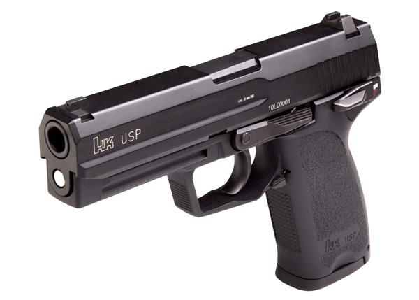 Pistola semiautomática HK USP.