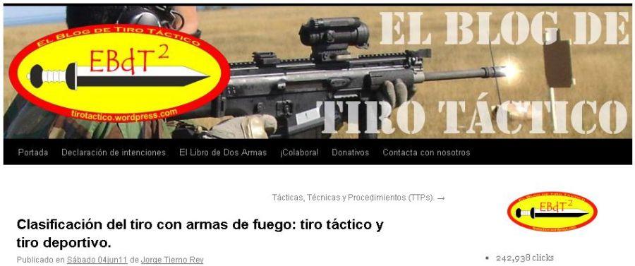 Clasificación del tiro con armas de fuego: tiro táctico y tiro deportivo.