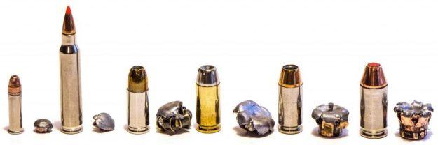 Variedad de calibres y proyectiles