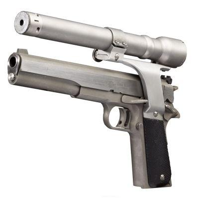 AMT Longslide con elemento de puntería láser, la pistola de Terminator I en 1984 (2)