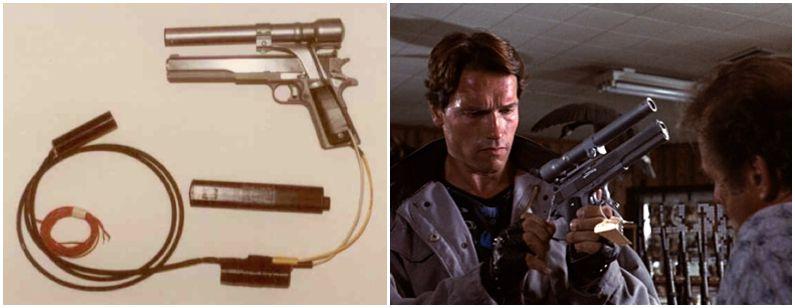 AMT Longslide con elemento de puntería láser, la pistola de Terminator I en 1984 (5)