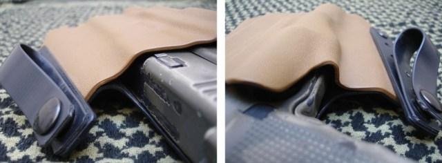 PT Holsters, fundas pistoleras de fabricación 100 % española artesanal en Kydex, y el porte oculto de un arma [Concealed Carry Weapon (CCW)]: G17 con linterna X300 Ultra, con DG Switch.