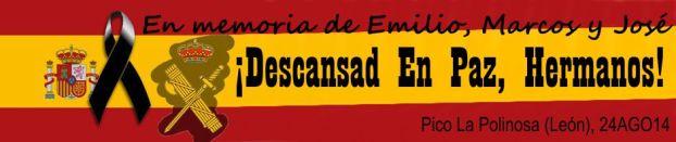 En memoria de Emilio, Marcos y José. Pico La Polinosa (León). 24AGO14.