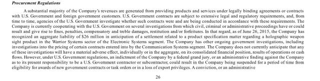 Declaración tributaria [SEC Filing] trimestral de L3 Communications