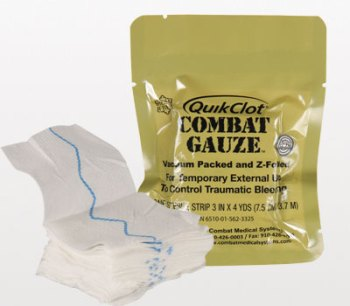 Figura 1. QuikClot Combat Gauze.