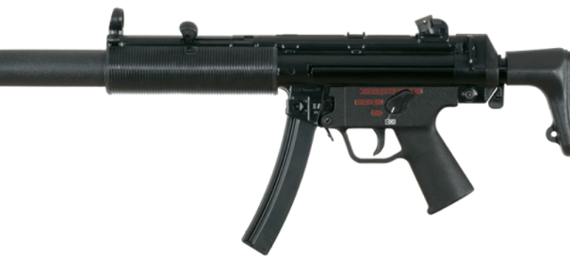 El subfusil MP5 con supresor integrado de Heckler & Koch no suena más alto que un grito. El supresor integrado reduce considerablemente el ruido.