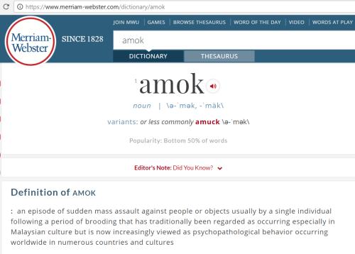 Merriam-Webster amok