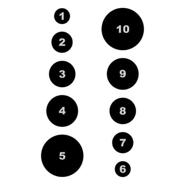 Blanco de círculos en progresión