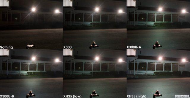 Comparativa de potencia de linternas SureFire. Fotos de http://www.recoilweb.com/surefire-xh35-1000-lumens-on-your-pistol-129317.html