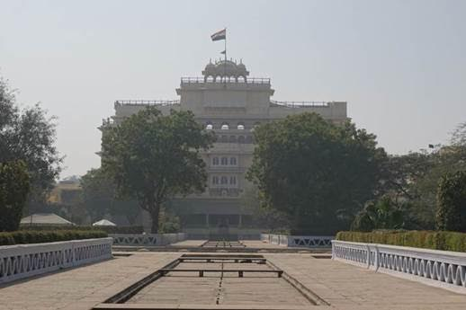 Palace of Maharaja Jai Singh II in front of Sri Govinda Dev Ji Temple. Jai Singh was great Vaishnava devotee of Sri Govinda Dev Ji.