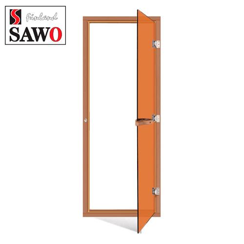 Дверь для бани парилки SAWO 730-4SGD 7/19,цвет стекла бронза,с порогом,универсальная