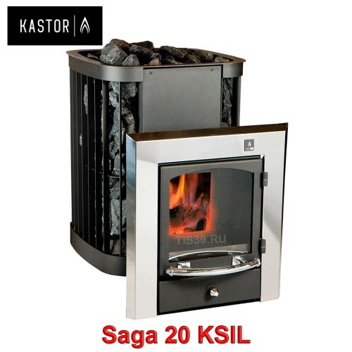 Печь для бани на дровах Kastor Saga KSIL 20