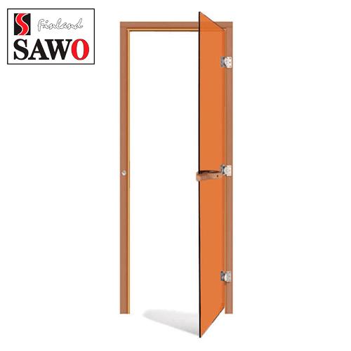 Дверь для парилки SAWO 730-3SGD-R 7/19 ,цвет стекла бронза,правая,без порога