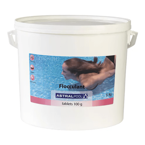 Флокулянт Astral Pool в таблетках по 100г, фасовка 5 кг