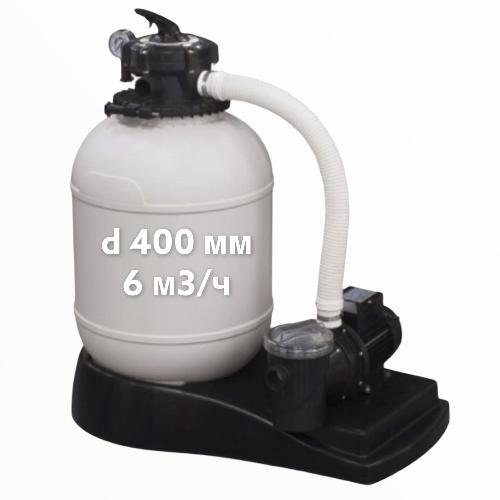 """Моноболок для бассейна """"Xpert-6"""",фильтр d 400 мм,насос 6 м3/ч"""