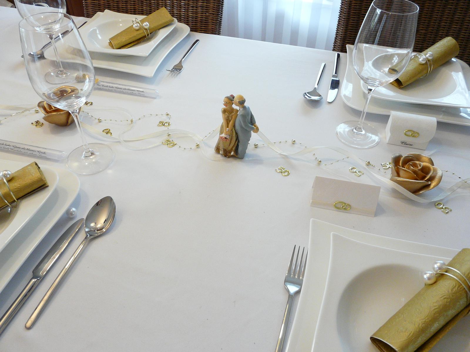 Tischdeko Goldene Hochzeit Ginacrisalida Tischdekoration Zur