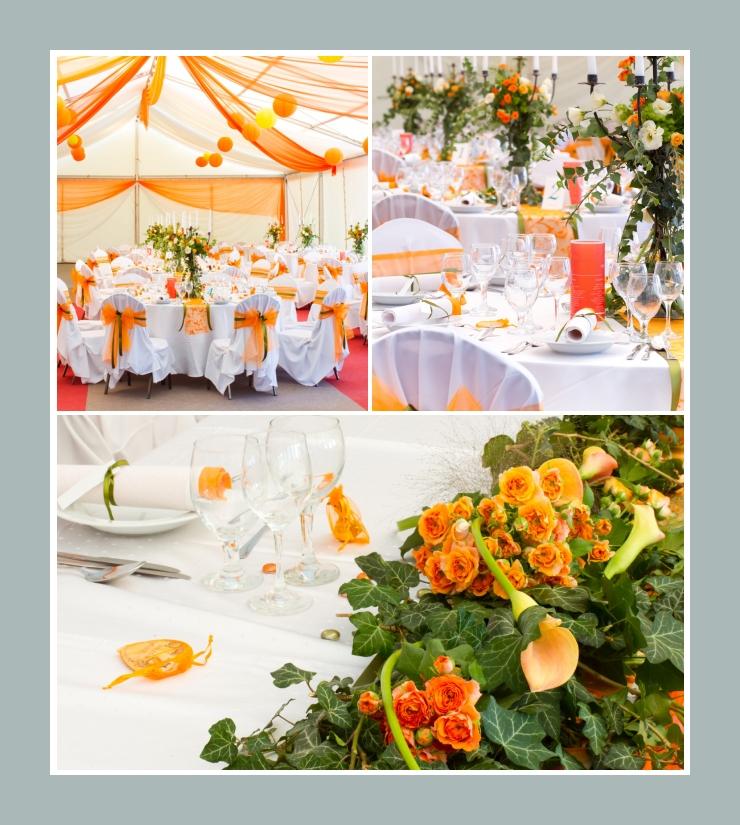 Tischdeko fr eine orange Hochzeit  Tischdekotips