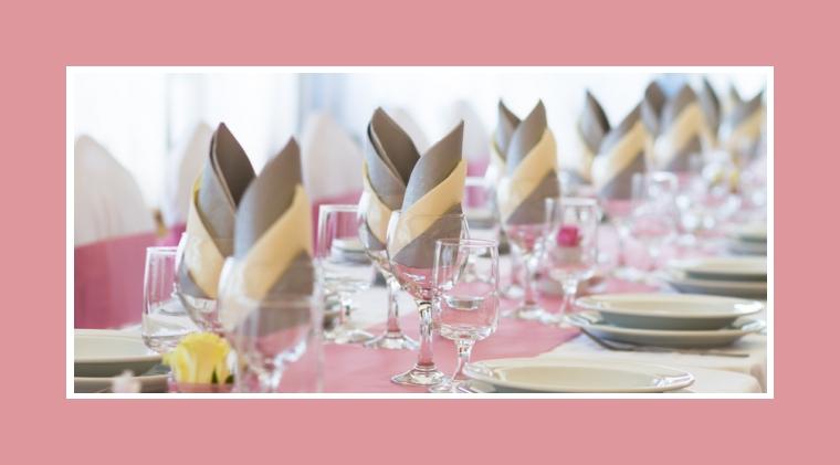 Hochzeitsdeko rosa  Tischdekotips