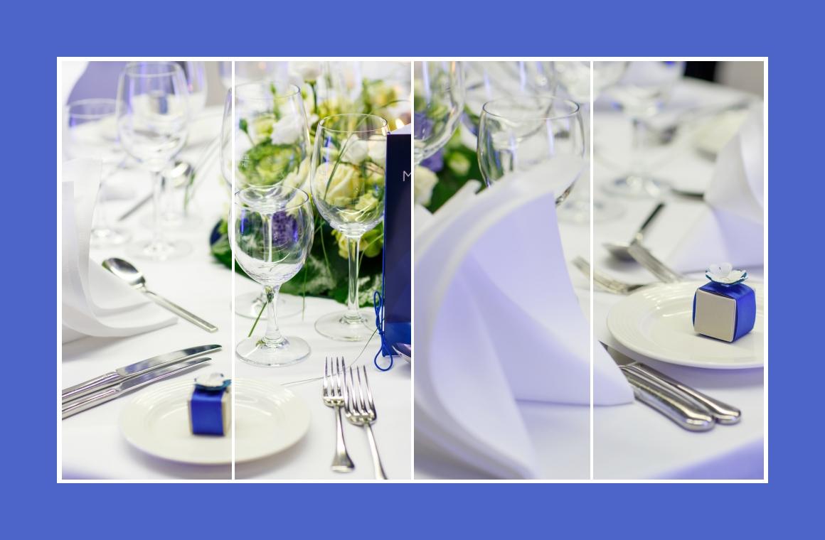 Tischdeko Blau Mustertische 2 Zur Kommunion Konfirmation Firmung