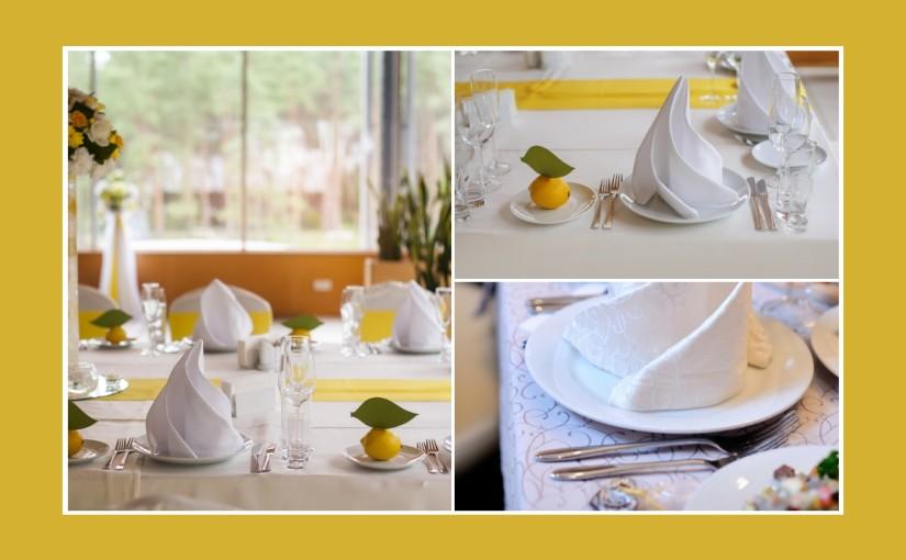 Gelbe Tischdeko mit Zitronenfrische  Tischdekotips