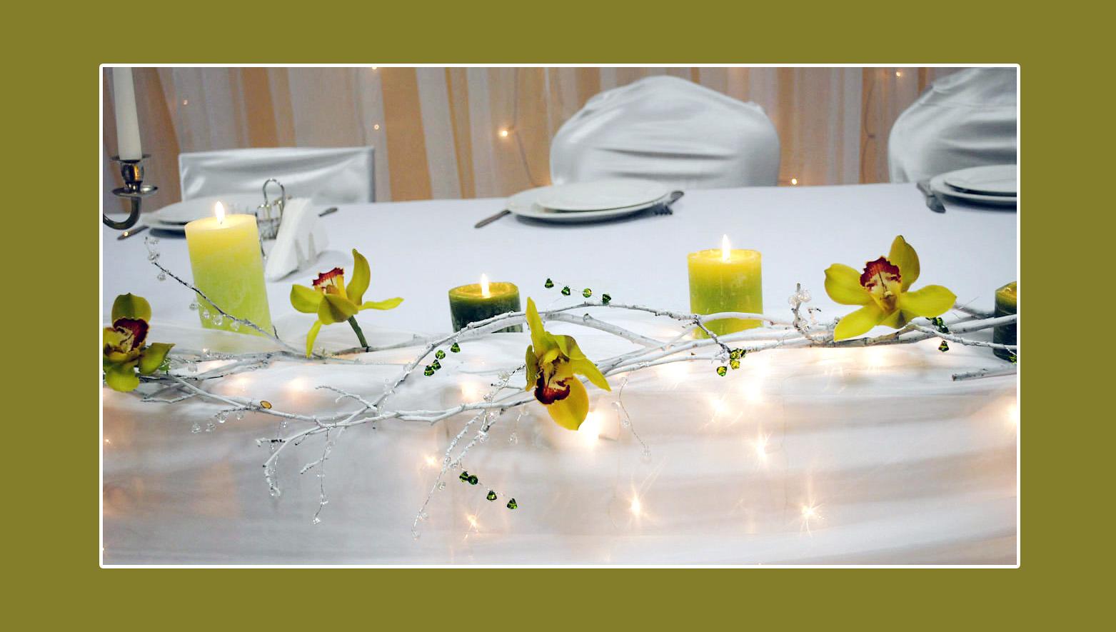 Kerzendeko  Tischdekotips