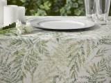 ATENAS Farn grün Tischwäsche-Meterware