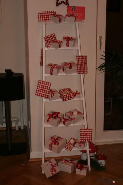 Adventskalender glueckspilz mit Leiter