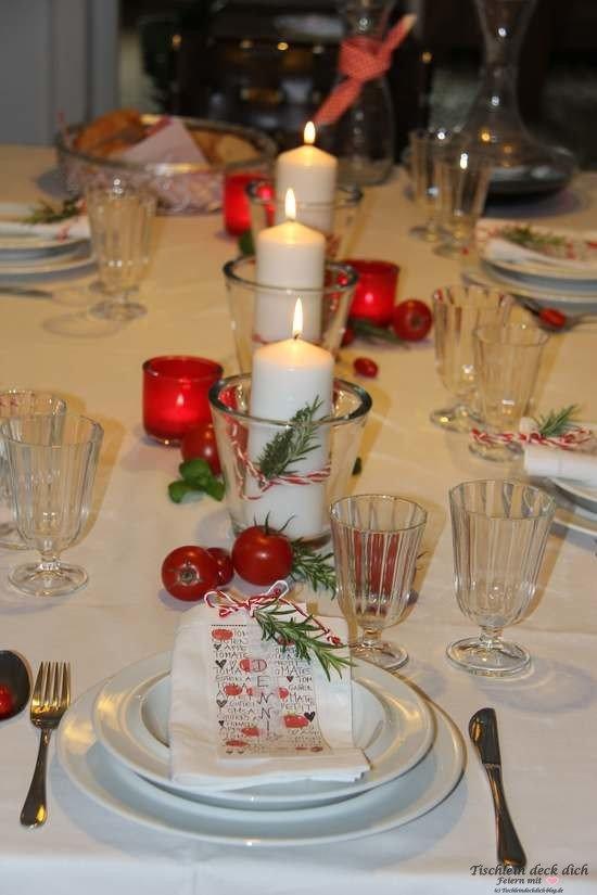 Tischdekoration italienischer Abend