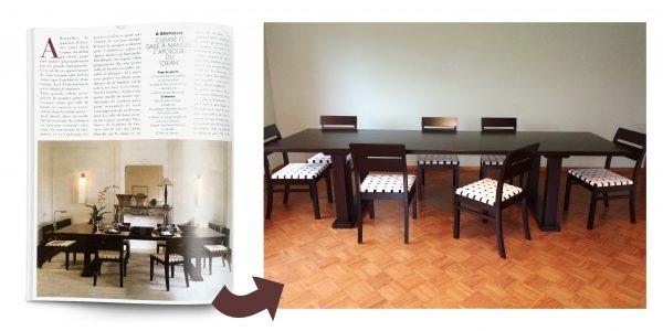 Nachbau eines Esszimmertischs aus dem 19. Jahrhundert nach Vorlage