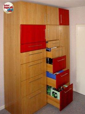 Küchenvorratsschrank aus Buche massiv, exakt nach Kundenbedürfnissen getischlert