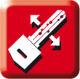 Bohrmuldenschlüssel, keine Zacken, Schlüssel beidseitig verwendbar