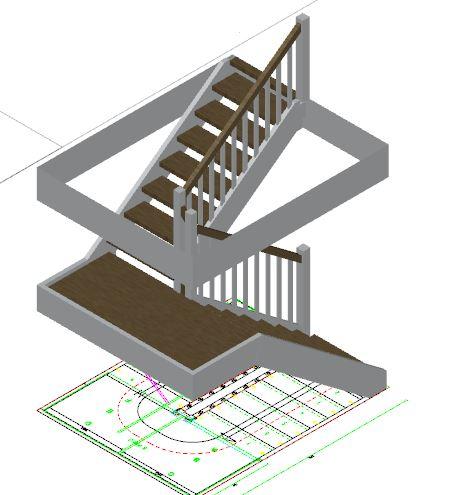 3D Entwurf der Treppe