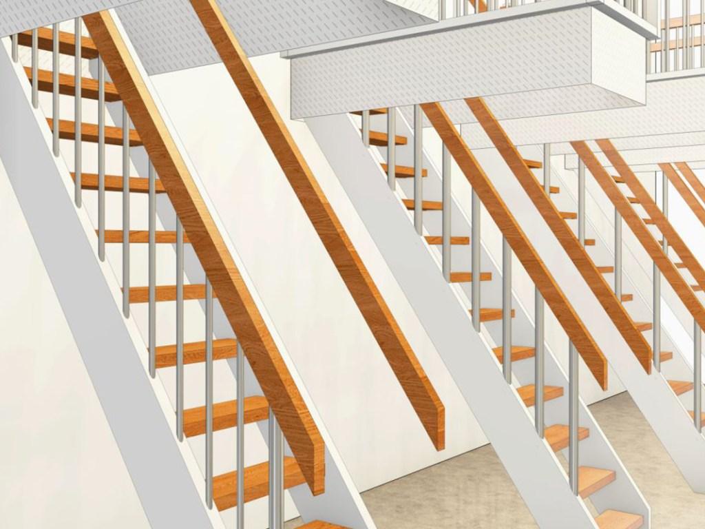 Treppe zum Dachboden