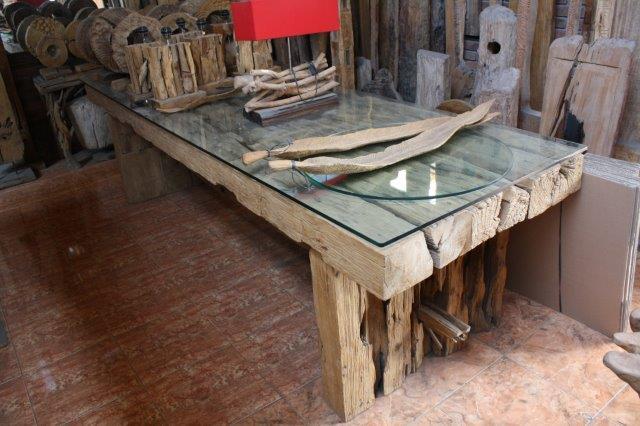 Tisch aus Bahnschwellen  Der Tischonkel