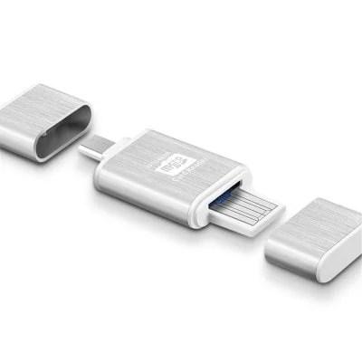 Metal Micro SD / TF Card Reader USB + OTG Combo 1