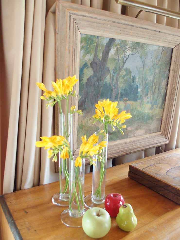 Freesias and French painting.