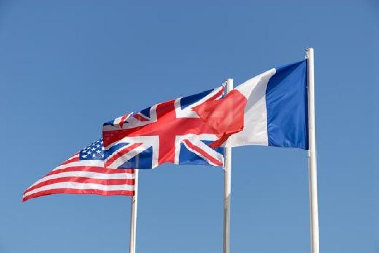 Three flags