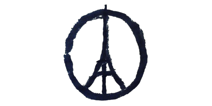 Eiffel Tower peace symbol