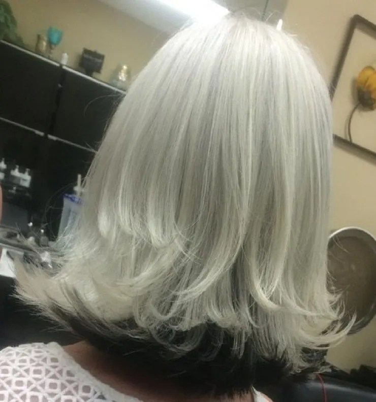 grey hair after 50