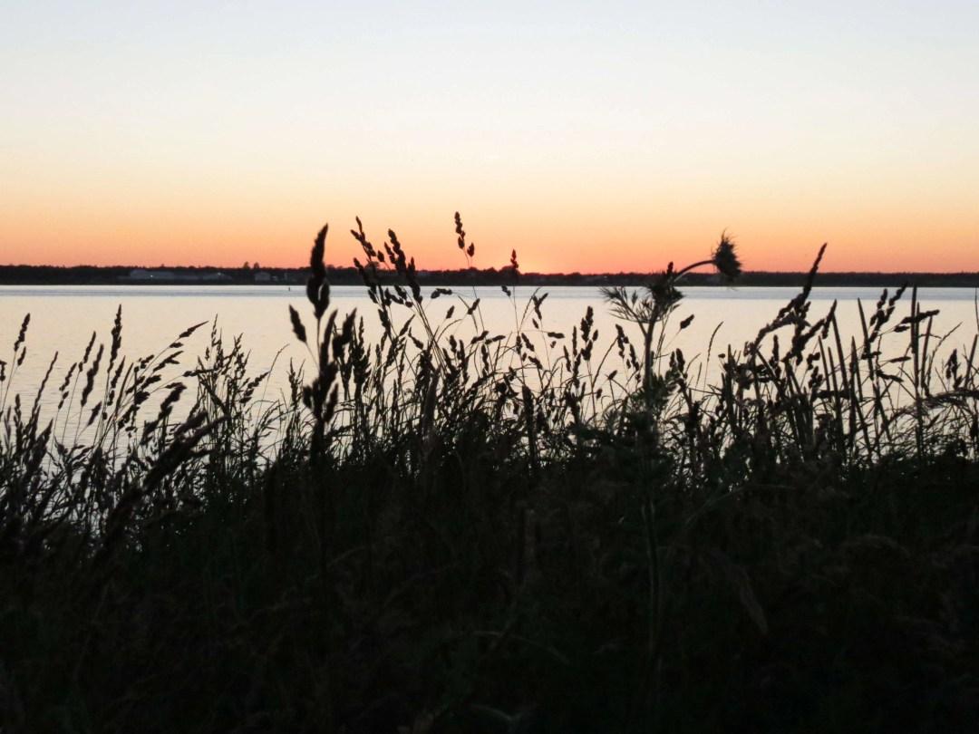 Last glimpse of the sun on the horizon.