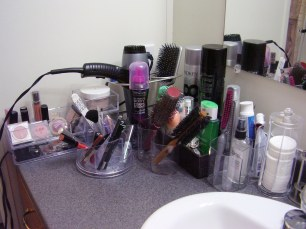 Tish's Organized Cosmetics Counter