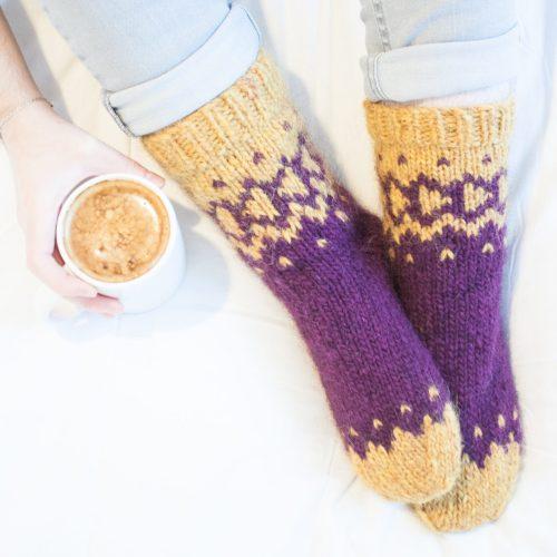 Marked Trail, chaussettes et chaussons en laine épaisse